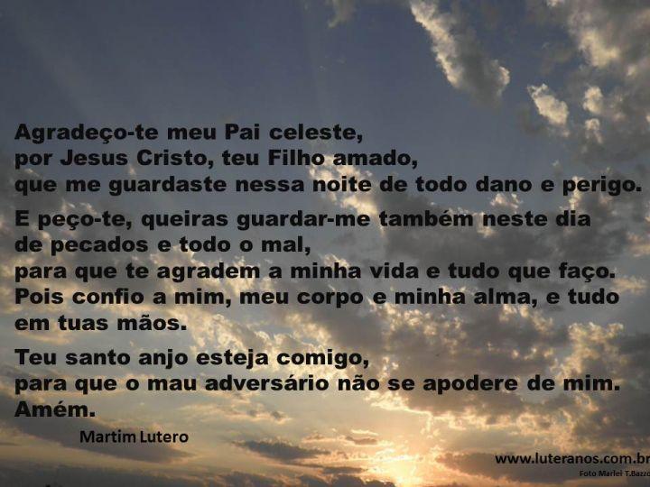 Fabuloso Portal Luteranos | Oração da Manhã - Martim Lutero PZ25