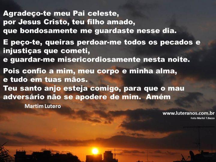 Oração da Noite Por do sol