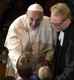 Papa Francisco na Igreja Luterana em Roma