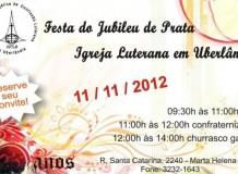 Festa do Jubileu de Prata da Comunidade Ev. de Conf. Luterana em Uberlândia