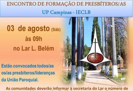 Encontro de Formação de Presbíteros(as) da U.P. Campinas