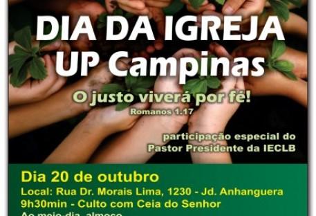 DIA DA IGREJA DA UNIÃO PAROQUIAL LUTERANA DA REGIÃO DE CAMPINAS (UPLRC) - SÍNODO SUDESTE