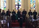 Coro Masculino de Alumínio canta e encanta no concerto na Igreja Martin Luther