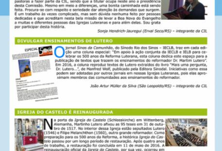 Boletim Informativo da Comissão Interluterana de Literatura - CIL - outubro 2016