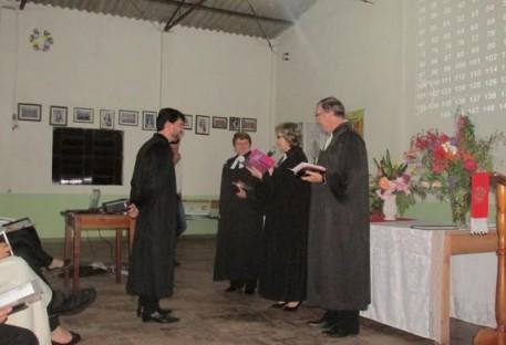 Culto de instalação na Paróquia Barranco - São Lourenço do Sul/RS