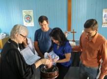 Culto com batismo e posse da Diretoria