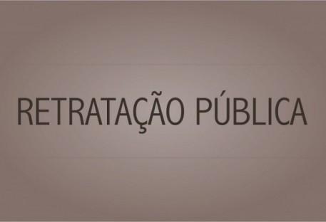 Retratação Pública