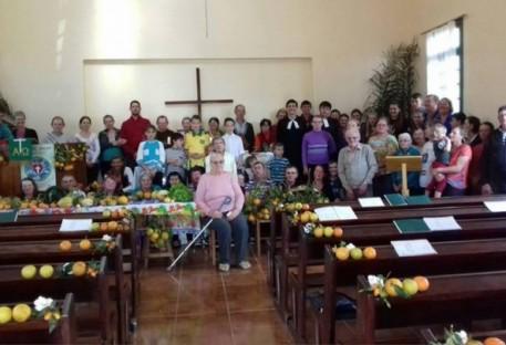 Culto de Ação de Graças com Festa da Colheita em Linha Antas - Mondaí/SC