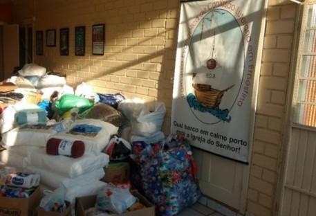 Paróquia de Ernestina fez entrega de donativos ao Pella Bethânia