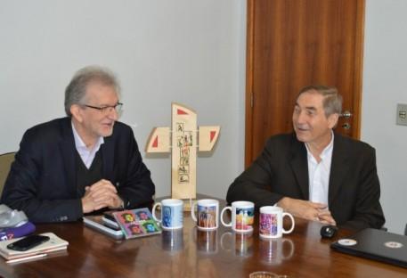 Momento de despedida marca a visita do P. Hans Zeller à IECLB
