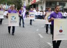 Luteranos de Blumenau tomam rua central da cidade para apresentar os 500 anos da Reforma