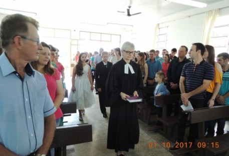 Culto de Confirmação e Batismo na Comunidade de Vista Gaúcha