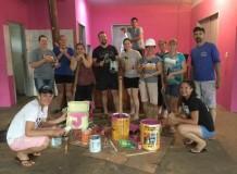 Novas cores para o salão comunitário da Comunidade de Vilhena/RO