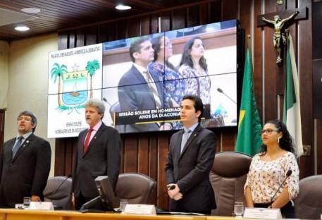 Diaconia recebe homenagem durante sessão solene na Assembleia Legislativa do Rio Grande do Norte