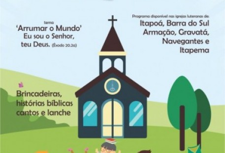 Sínodo Vale do Itajaí oferece programa para crianças no litoral catarinense em janeiro