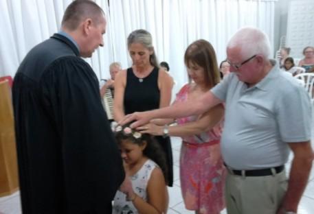 Em Guaratuba, Profissão de Fé, Batismo e Ceia...