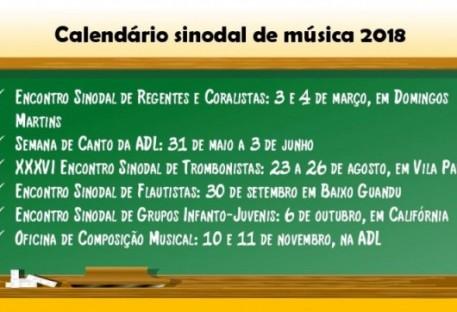 Calendário Sinodal de Música 2018