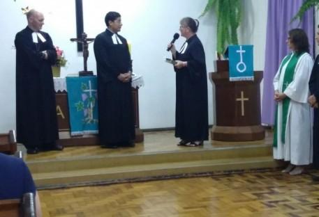 Paróquia Evangélica de Palmitos/SC acolhe novo Pastor