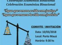 Culto Binacional Ecumênico Pelos Rios Livres