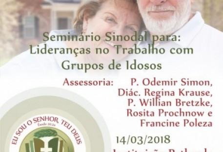 Seminário Sinodal para Lideranças no Trabalho com Grupos de Idosos