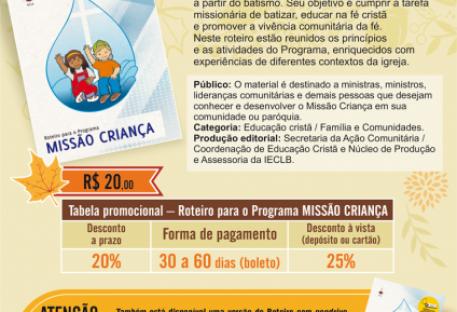 Roteiro para o Programa MISSÃO CRIANÇA - Editora Sinodal