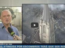 Vídeos de notícias sobre o desabamento em São Paulo