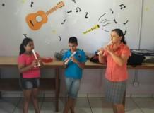 Aulas de Música na Escola Para a Vida - Ariquemes/RO