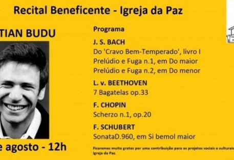 Concerto ao Meio-dia - Cristian Budu - Igreja da Paz - Santo Amaro - São Paulo/SP