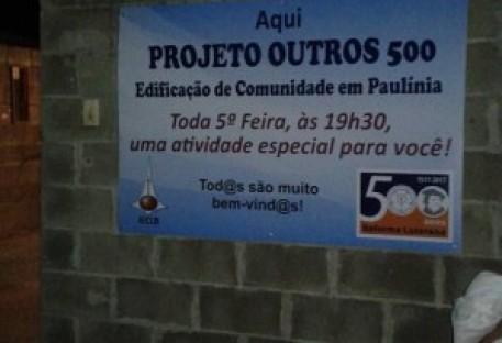 Projeto Outros 500 em Paulínia ganha placa de identificação