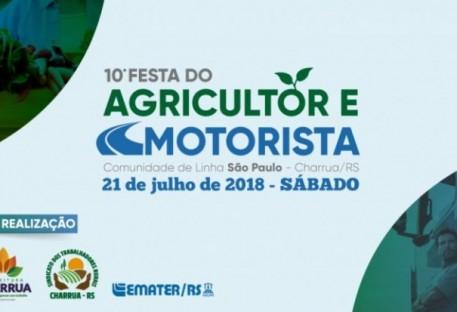 Culto Ecumênico na 10ª Festa do Agricultor/a e Motorista de Charrua/RS