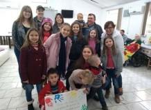 Culto infantil Rincão dos Ilhéus visita Casa de Repouso