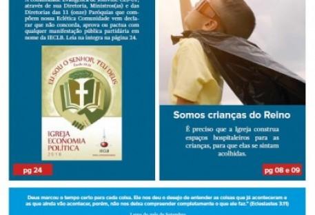 Joinville Luterano. Ano XVIII -  Número 108 - Setembro e Outubro 2018