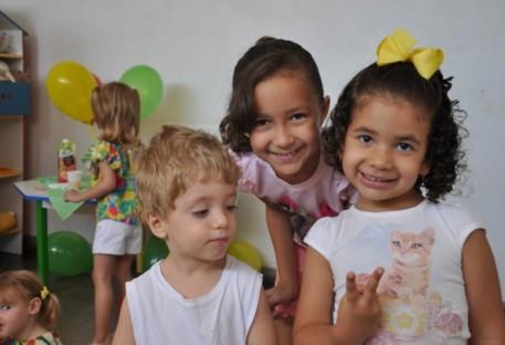 Café da manhã com as crianças em Cristalina/GO