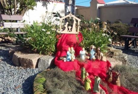 Presépio no Jardim da Comunidade de São Francisco do Sul