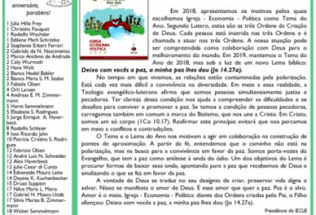 ARCO-ÍRIS - FEVEREIRO 2019