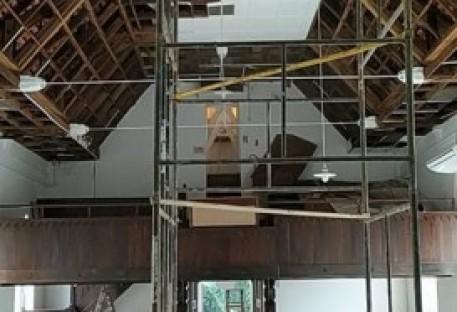 Templo da Comunidade de Badenfurt/Blumenau está em obras
