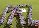 Juventude Evangélica do SESB reunida pela paz durante o carnaval