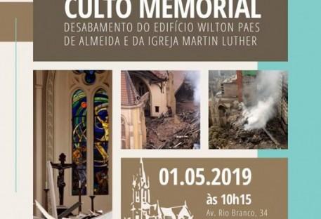 Culto Memorial - Desabamento do Edifício Wilton Paes de Almeida e da Igreja Martin Luther