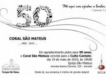 Confira as fotos dos 50 anos do Coral São Mateus - Joinville/SC