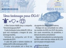 Uma tartaruga para Obra Gustavo Adolfo!  - Campanha da OGA 2019
