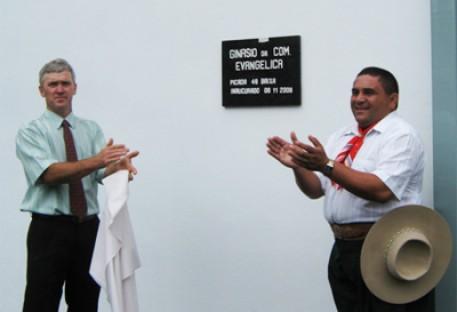 Inauguração do Ginásio da Comunidade de Picada 48 - Lindolfo Collor/RS