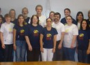 Vestir a camiseta na sede da Igreja em Porto Alegre/RS