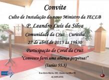 Instalação do Pastor Leandro Luís da Silva