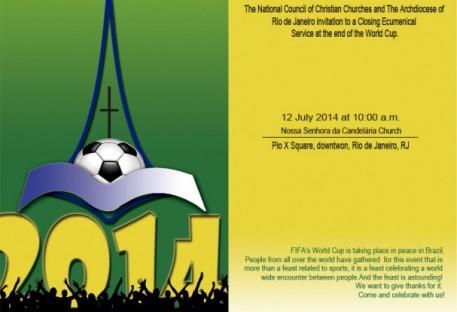 Celebração ecumênica no encerramento da Copa do Mundo