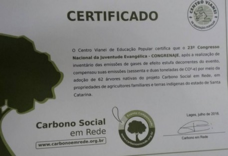 Participação da Associação Galo Verde - Gestão Eclesiástica Sustentável  - XXIII Congrenaje