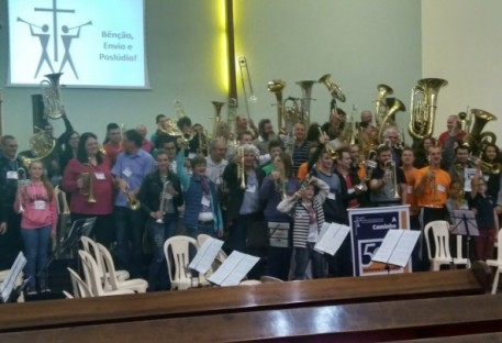 Músicos da Comunidade Monte Alegre participam de Encontro de Trombonistas