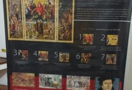 Exposição de banners na Câmara Municipal em Santo André/SP - Jubileu da Reforma