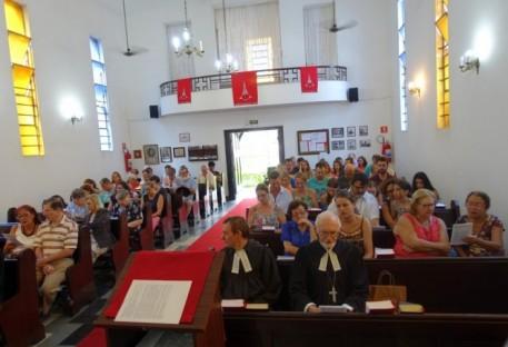 Domingo Fraterno com Despedida dos Pastores Adelar Schünke, Wilhelm Nordmann e Famílias 08/04/2018 na Igreja Luterana de Santos