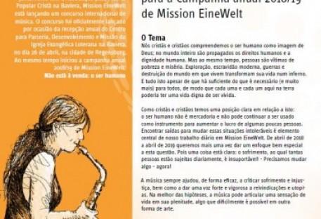 Concurso de Música para a Campanha Anual 2018/19 de Mission EineWelt