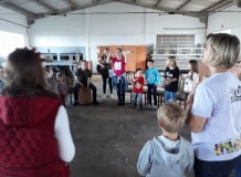 Programa especial com crianças em Bela Aliança